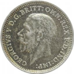 Silver three Pence George V For Sale